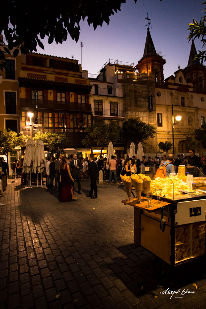 Seville-Spain-plaza-bar-cafe-tapas-at-night