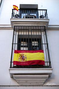 Spain-colours-flag-hanging-window-Seville