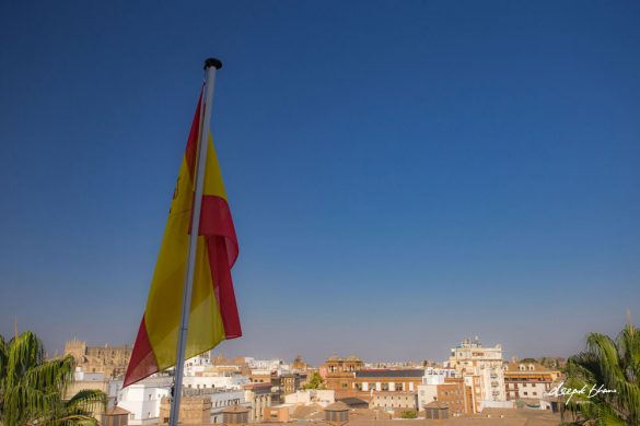 Spain-flag-over-Seville