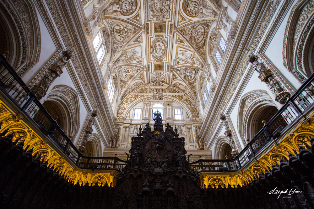 Cordoba-Spain-Mosque-Cathedral-ornate-ceiling-gold