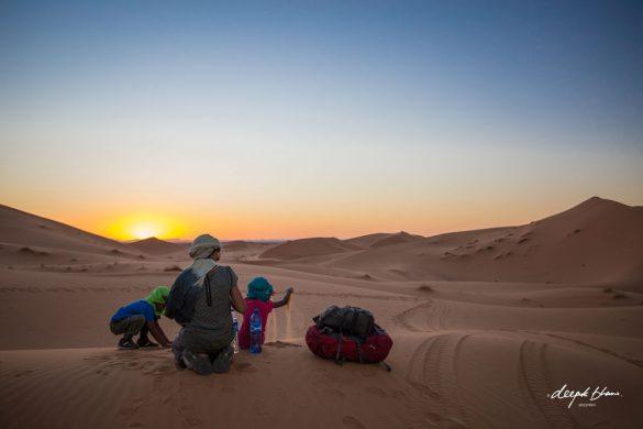 Todayfarer-family-Merzouga-Sahara-Morocco-playing-sand-dunes