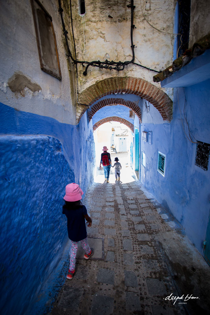 Todayfarer-family-CHefchaouen-Morocco-walking-through-narrow-streets