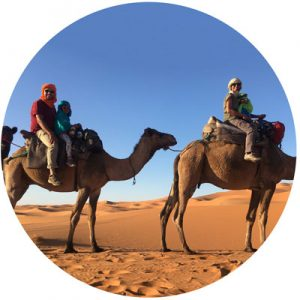 Todayfarer-family-on-camels-in-Morocco-Sahara-desert