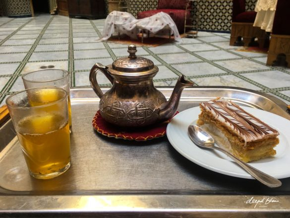 Todayfarer-Morocco-food-mint-tea-mille-feuille-riad